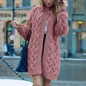 Winter Elegant Winter Coats Loose Knitwear Cardigan Sweater Oversized Extra Soft High-end Cardigan Knitting Coat For Women - LiveTrendsX