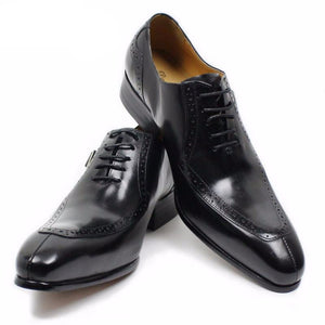 LUXURY LEATHER MEN SHOES CASUAL MEN OFFICE BUSINESS WEDDING SHOE - LiveTrendsX