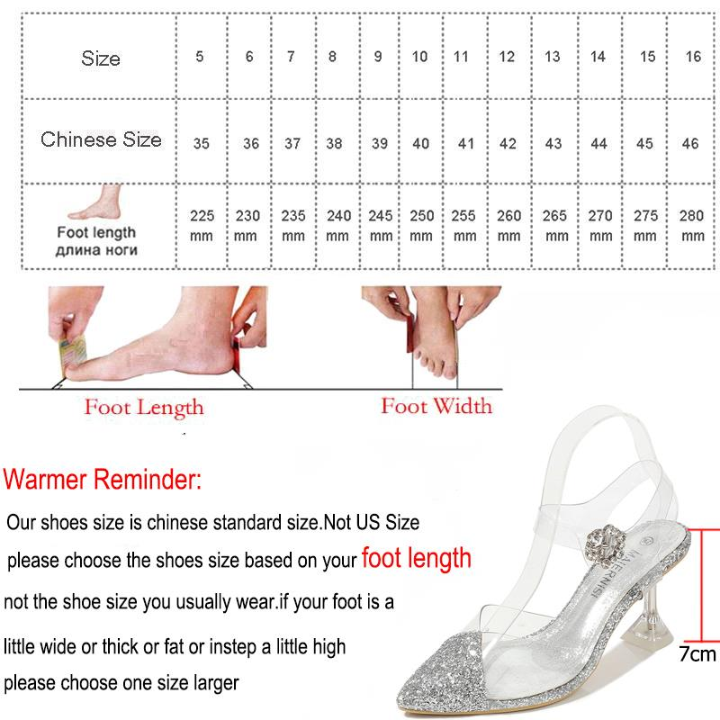 Transparent PVC sandals women pointed clear crystal sexy high heel design brand pumps  new party shoes women - LiveTrendsX