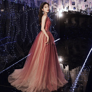 Elegant Banquet Party Dress 2020 New Fashion a Line Floor Length Evening Dress Shinning Sexy Sleeveless Prom Dress Haute Couture - LiveTrendsX