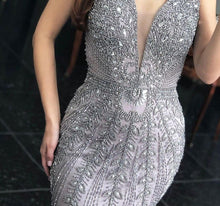 Load image into Gallery viewer, Lilac Mermaid Luxury Evening Dresses Gowns Beading Crystal Elegant Sexy For Women Party - LiveTrendsX