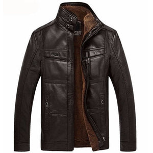 Leather Jacket Men Coats 5XL Brand High Quality PU Outerwear Men Business Winter Faux Fur Male Jacket Fleece EDA113 - LiveTrendsX