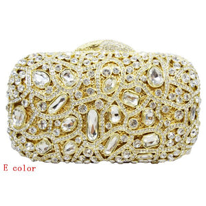 Fashion Luxury Sparkly Diamond Evening Bag Purple Crystal Clutch Bag Women Wedding Party Purse Female pochette banquet bag sc125 - LiveTrendsX
