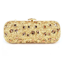Load image into Gallery viewer, long plated Gift Box ladies evening bag Gold clutch purse party women pochette bag luxury Diamond crystal Clutch Bag - LiveTrendsX