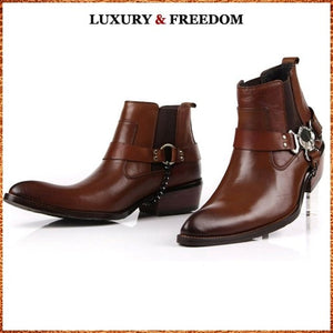Luxury Runway Man Handmade Brand Punk Shoes Male Designer Genuine Leather - LiveTrendsX