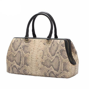 Python Pattern Luxury Doctor Women Handbags designer Genuine Cow Leather Bag Female Bolsa Feminina New Arrive - LiveTrendsX