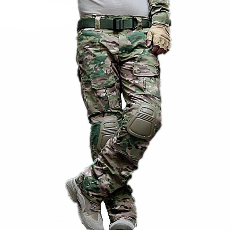 Camouflage Military Tactical Pants Army Military Uniform Trousers Airsoft Paintball Combat Cargo Pants With Knee Pads - LiveTrendsX