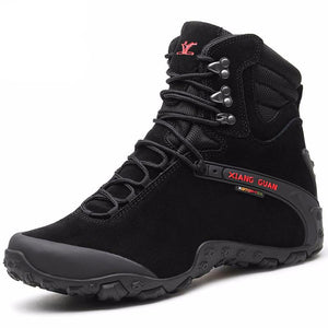 Men Hiking Boots Cow Leather Women Trekking Shoes Black Waterproof Sports Climbing Outdoor Hunting Walking Sneakers - LiveTrendsX