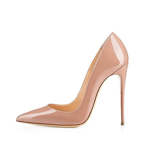Women Pumps Heeled Shoes Nude Pointed Toe Sexy High Heel Shoes Stiletto High Heels Ladies 12 10 8 cm Big Size 42 - LiveTrendsX