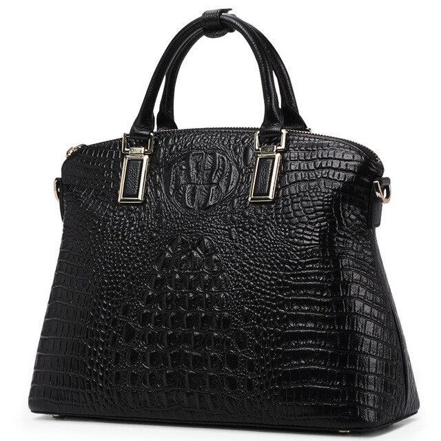 Women Bags Authentic Women Crocodile Pattern Bag 100% Genuine Leather Women Handbag Big Totes Women Bag Famous Brand Bags Luxury - LiveTrendsX