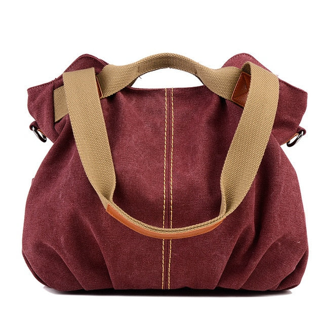 Hot Fold Casual Tote Women's Handbag Shoulder Crossbody Bags Canvas High Capacity Bag for Women Female bolsa feminina - LiveTrendsX