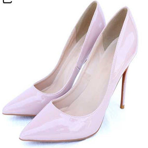 new ayemiland fashion stiletto heel pointed toes Pure color  shallow mouth high-heeled shoes woman Single shoes