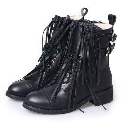 Low Heels Cow Leather Soft Sole Comfortable Women Boots - LiveTrendsX