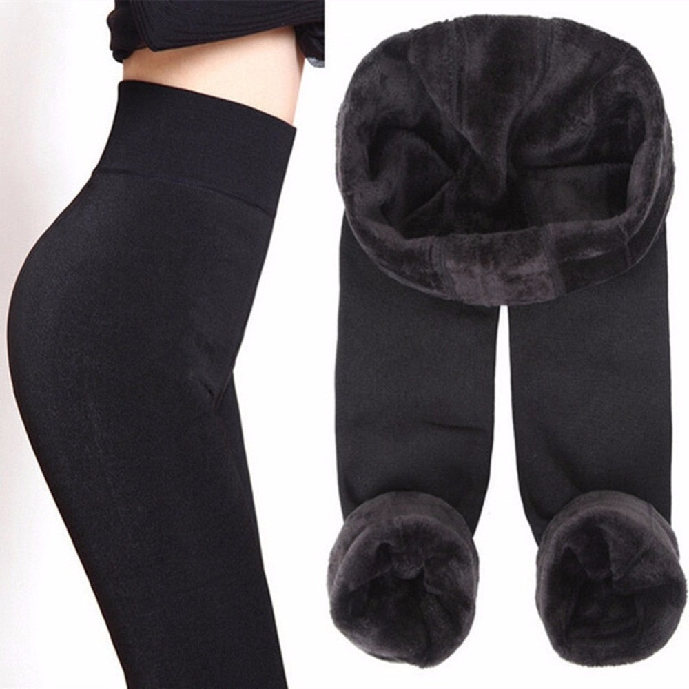 S-XL 8 Colors Winter Leggings Women's Warm Leggings High Waist Thick Velvet Legging Solid All-match Leggings Women - LiveTrendsX