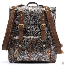 Load image into Gallery viewer, Hand rubbing leather backpack casual men and women first layer of leather embossed personality retro backpacks - LiveTrendsX