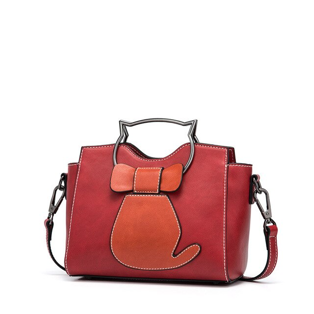 Women Handbag Tote Bag Female Shoulder Crossbody Bags Ladies Pu Leather Top-handle Kitten Appearance Messenger Bags - LiveTrendsX