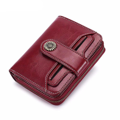 Trend Wallet Female Women Wallet Short Wallet Quality Coin Purse Women Button Purse Quality Flower Hardware 5185H-75 - LiveTrendsX