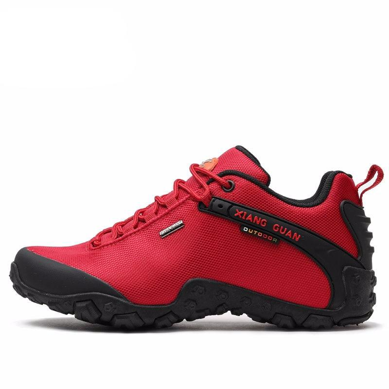 Woman Hiking Shoes Women Red Trekking Boots Outdoor Sports Climbing Mountain Camping Hunting Jogging Walking Sneakers - LiveTrendsX