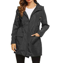 Load image into Gallery viewer, Polyester Women Raincoat Thickened Waterproof Rain Coat Women Clear Black Camping Waterproof Rainwear Rain Coats Suit - LiveTrendsX