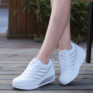 White Platform Sneakers Casual Shoes Women Tenis Feminino Women Wedges Shoes Footwear Basket Femme trainers women - LiveTrendsX