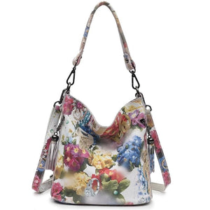 High Class Shiny Floral REAL LEATHER Women Handbags Bags Fashion 2019 New Genuine Cow Leather Blossom Designer Bag - LiveTrendsX