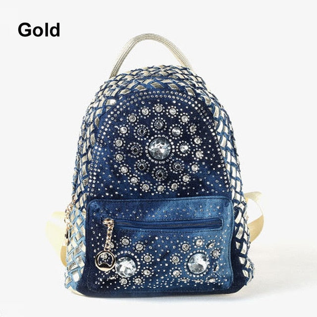 New Backpack Ladies Denim Bag Small Women Backpack Mochila Feminina School Bags for Teenagers - LiveTrendsX