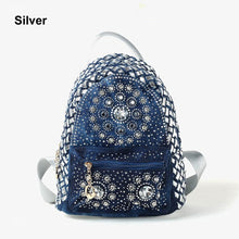 Load image into Gallery viewer, New Backpack Ladies Denim Bag Small Women Backpack Mochila Feminina School Bags for Teenagers - LiveTrendsX