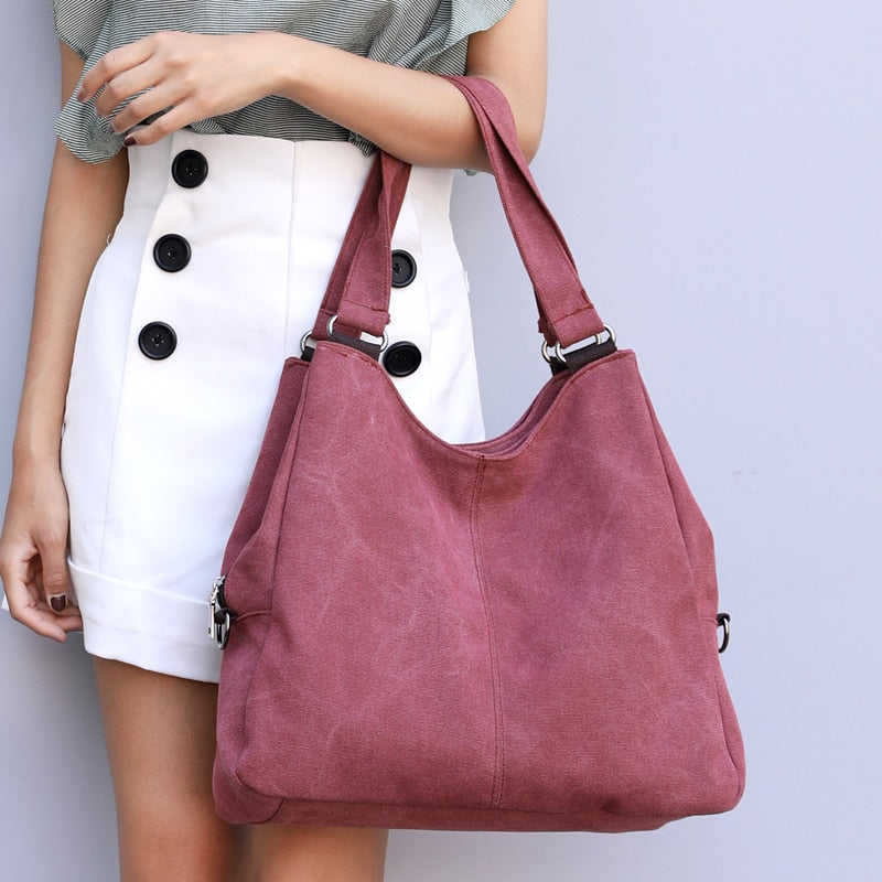 Canvas Shoulder Bag Tote Ladies Hand Bags 2019 Luxury brand Handbags for Women Crossbody Bags Bolsas Feminina sac a main - LiveTrendsX