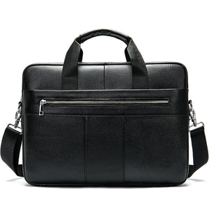 men's briefcase bag men's genuine leather laptop bag business tote for document office portable laptop shoulder bag  8523 - LiveTrendsX