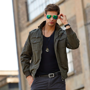 plus size bomber jacket tactical jacket men military coat Army Green High quality clothes 2019 casual pilot jacket Cargo Flight - LiveTrendsX