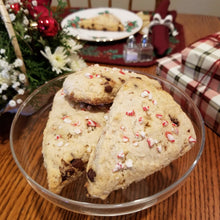 Load image into Gallery viewer, Peppermint Chocolate Chip Scone
