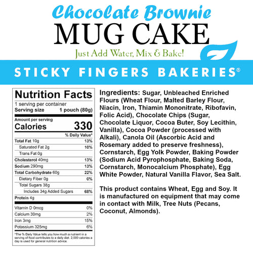 Chocolate Brownie Mug Cake Mix (12-pk)