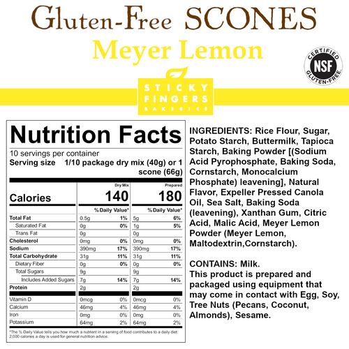 Meyer Lemon Gluten Free Scone Mix