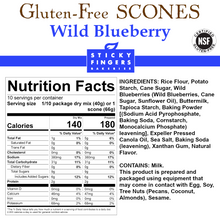 Load image into Gallery viewer, Wild Blueberry Gluten Free Scone Mix