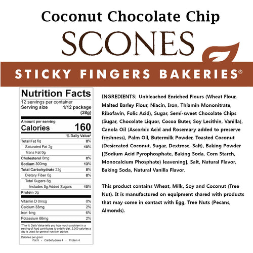 Coconut Chocolate Chip Scone Mix