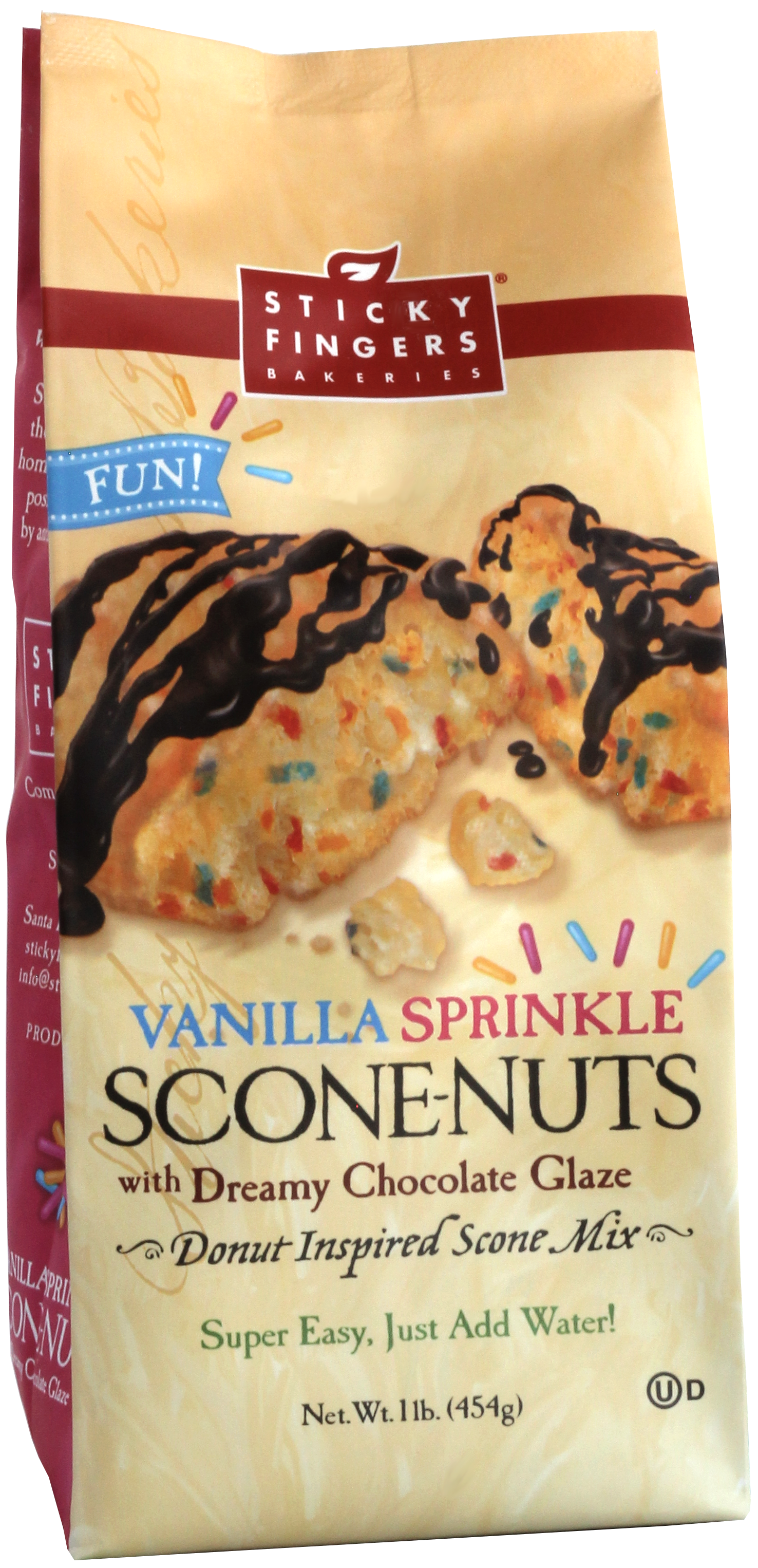 Vanilla Sprinkle Scone-Nuts