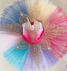 Beautiful Rainbow Ballet Tutu