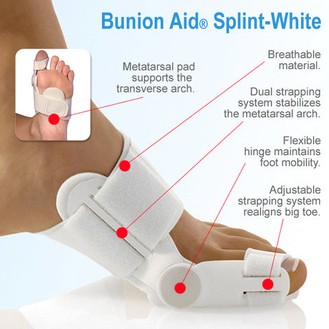 Bunion Aid Treatment Splint - White