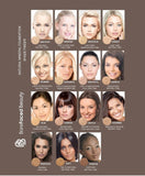 Barefaced beauty mineral make up foundation colour map