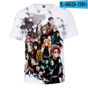 Demon Slayer: Kimetsu no Yaiba Cosplay 3D Printed t-shirt
