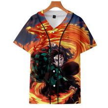 Load image into Gallery viewer, Demon Slayer: Kimetsu no Yaiba Cosplay Baseball T-Shirt