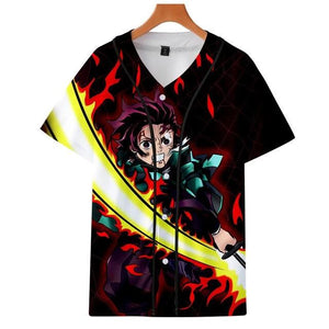 Demon Slayer: Kimetsu no Yaiba Cosplay Baseball T-Shirt