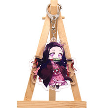 Load image into Gallery viewer, Demon Slayer: Kimetsu no Yaiba Kamado Tanjirou Cosplay prop Keychain | amado Nezuko Acrylic lovely key chain keyring