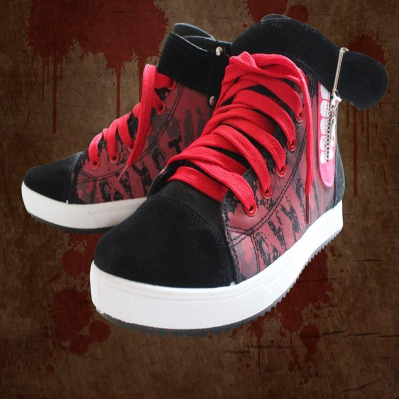 Tokyo ghouls cosplay Canvas Shoes Sol Ken Kaneki mask costumes women men sneakers shoes cos Hip-hop cosplay boots