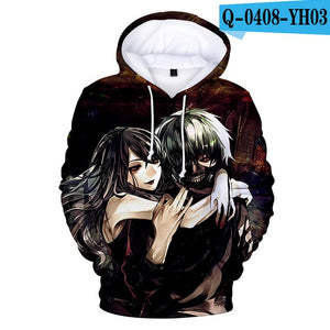 Tokyo Ghoul Hoodies 2017 New Fashion Funny Anime Hoodies and Sweatshirts 3d Tokyo Ghoul harajuku Hip Hop Men Women Clothing
