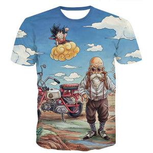 Dragon Ball Z Men's Summer  3D Printed T-shirts| Super Saiyan Kid Son Goku| Black God Zamasu Vegeta Jiren Dragonball T Shirt