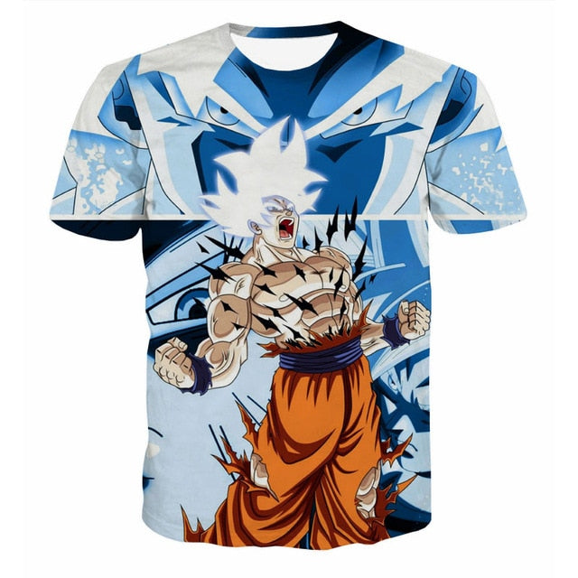 Dragon Ball Z Men's Summer T-shirts 3D Printing Super Saiyan Kid Son Goku Black God Zamasu Vegeta Jiren Dragonball T Shirt Tops