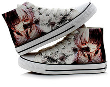 Load image into Gallery viewer, Female Fashion Cute Tokyo Ghoul 3D Printing Shoes Casual Kaneki Ken High-Top Flat Canvas Sneakers Zapatos Mujer A50910