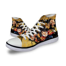 Load image into Gallery viewer, FORUDESIGNS Fashion Anime Dragon Ball Z Mens High-top Vulcanized Shoes One Piece Print Canvas Shoes for Boys Autumn Sneaker Shoe