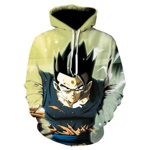 Seven dragon ball  Dragon Ball 3D Hoodie runaway  Dragon Ball Z Vegeta  Super Saiyan turned Hoodie